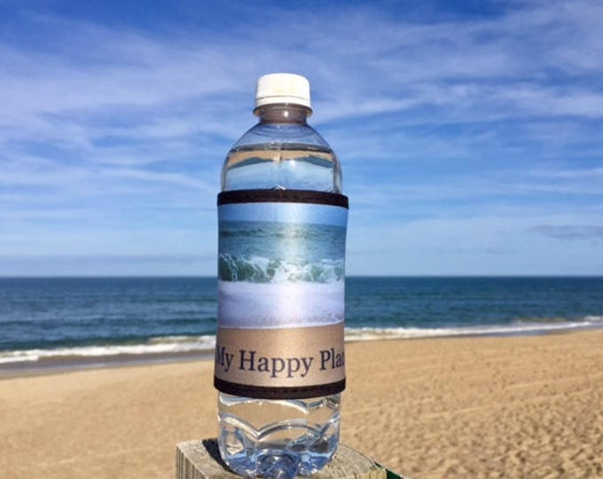 5 This is my happy place  beer can cooler OBX beach wedding favor welcome bag Outer Banks bridesmaids BeachHouseDreamsHomeOBX