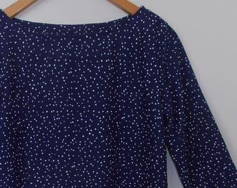 dottie...ladies autumn blouse in vintage fabric
