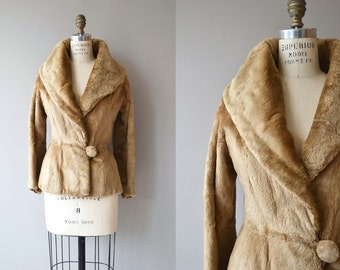 Sheared Beaver short coat | vintage 1930s jacket | 30s fur jacket