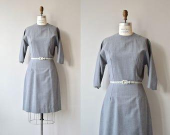 Book Smart dress | vintage 1950s dress | gabardine wool 50s dress
