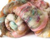 Rock Quartz 3.4 oz  Wool - Merino Mixed Art Batt // Wool Art Batt for spinning or needle felting