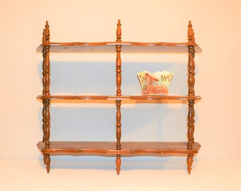 Vintage Wood Cubby / Wall Shelf / Organizer / Display