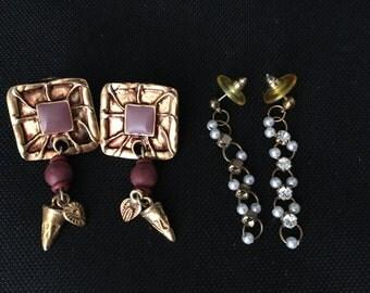 Vintage earrings dangles