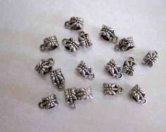 Tibetan Silver Bail - Set of 11 -12x8mm