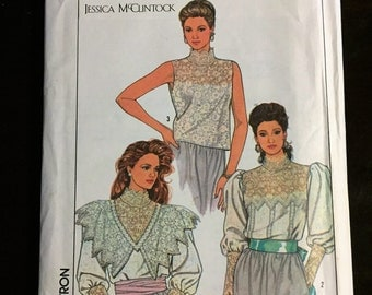 Simplicity Sewing Pattern for Jessica Mcclintock Victorian Ladies Blouse, Size 10