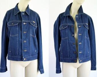 Dark Denim Soft Vintage Unisex Rustler Classic Denim Jean Jacket