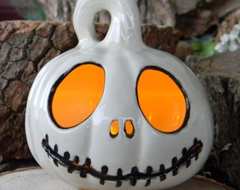 Lighted Nightmare Before Christmas Halloween Pumpkin Jack  Skellington JOL night light   pm