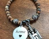 Disney inspired Jewelry, Cinderella Castle, Home, Stretch Charm bracelet, Disney Jewelry