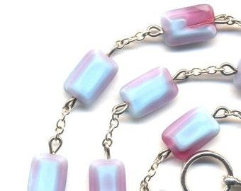 SALE Winter Necklace, Lavender Fields Necklace, Purple Necklace, Czech Glass Necklace, Czech Glass Necklace, handmade Mod Jewelry by AnnaArt