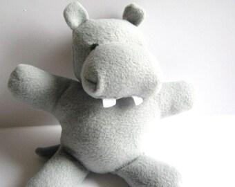 New Item:  Gray Hippopotamus Frennie the Friendly Hippo Stuffed Animal Washable Soft Plush Travel Toy Nursery Handcrafted Children's Toy