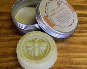 All Natural Solid Lotion Bar - Made Fresh To Order - Palm Free