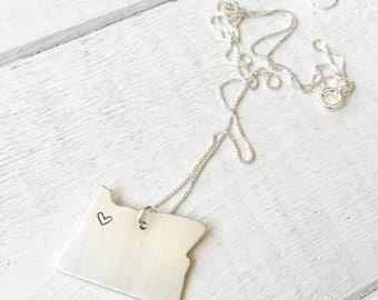 Oregon Love Pendant Necklace