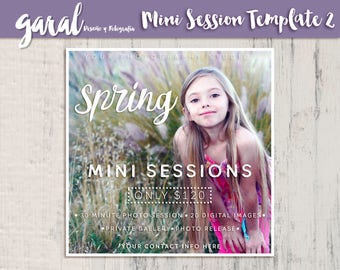 Spring Mini Session Template, Easter Mini Sessions, Spring Marketing Board, Spring Photoshop, Photography Marketing