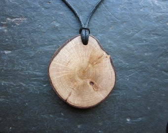Unique Natural Wood Pendant - Hazel - for Wisdom.