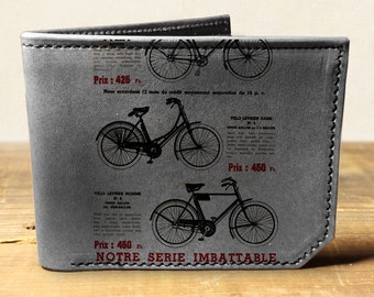 wallet - leather wallet - mens wallet - Bicycle wallet - 007