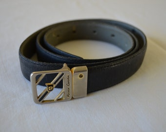 Vintage PIERRE CARDIN belt with buckle leather