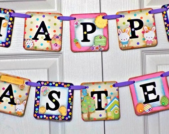 Easter Banner-Happy Easter Sign-Happy Easter Banner-Easter Sign-Easter Decorations-Easter Bunny Banner-Easter Gifts-Bunny Butts Banner