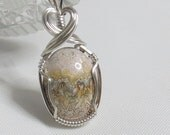 Small Lace Agate Sterling Silver Pendant