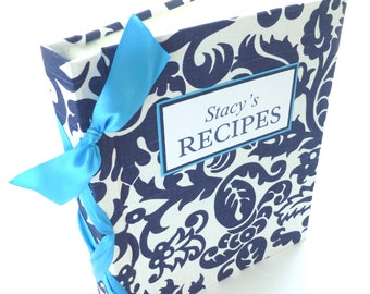 Custom Recipe Book-ready to ship for Mother's Day-choose your ribbon color