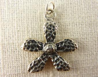 Vintage Sterling Thai Flower Charm/Pendant