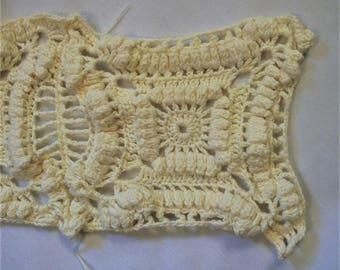 Vintage Hand Crocheted Trim, Shabby Chic Trim, Handmade Trims