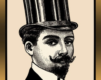Victorian Vintage Gentleman OOAK Etsy Banner with free Avatar