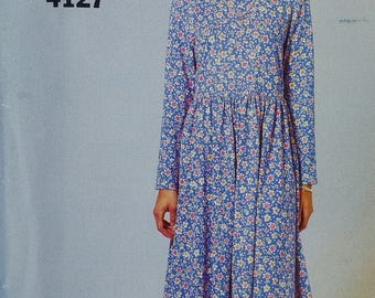 Country Chic Misses Long Sleeve Dress Pattern Butterick See & Sew 4127 Easy to Sew