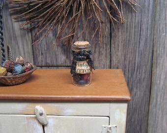 Miniature Dollhouse Buttons Jar Bottle