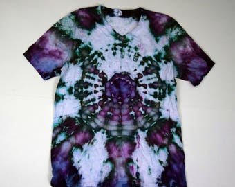Ghost in the Machine ~ Tie Dye V-neck T-Shirt (Bella Canvas V-neck Size XL) (One of a Kind)