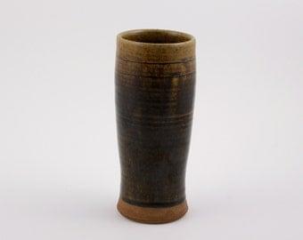 Handmade Ceramic Pottery Wood Fired Tumbler Vase for Drinks or Flowers