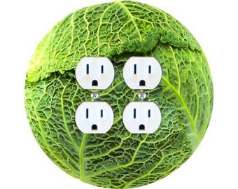 Cabbage Double Duplex Outlet Plate Cover
