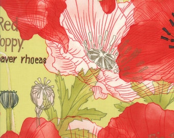 Green Poppy Mae Fabric - Moda - Robin Pickens - 48600 15