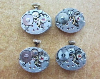 Steampunk watch parts - Vintage Antique Watch movements Steampunk - Scrapbooking L44
