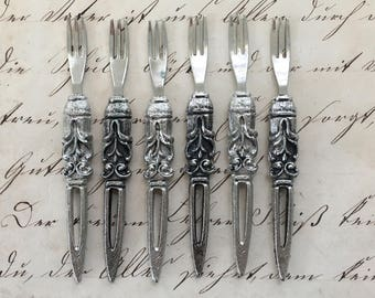 Vintage Appetizer, Pickle or Olive Forks