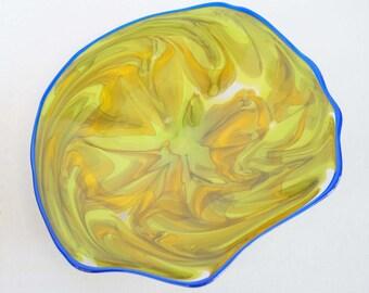 Wall Art Glass Blown Platter 654