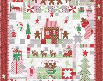 SUMMER SALE - Sugar Plum Christmas Kit - Moda Factory Kit - Bunny Hill Designs - Moda Fabric