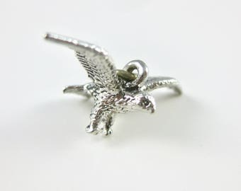 Vintage Sterling Silver Seagull Bird Charm
