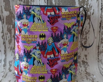 Supergirls Reusable Trashbag -  waterproof, perfect for travel, child friendly