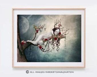 Fairytale Art Print - Fairytale Art - Fantasy Art - Fairy Tale - Wall Decor - Sleeping Beauty