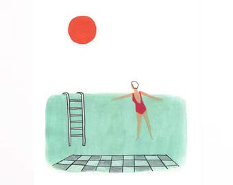 Summer Swim Print