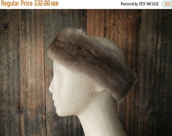 25% OFF MINK Fur Earmuffs headband / brown ear warmer / hat