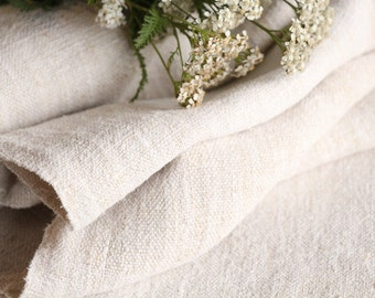 Nr. 311: antique handloomed PLAIN ROLL perfect for upholstering 4.37 y upholstery fabric  23.62 wide