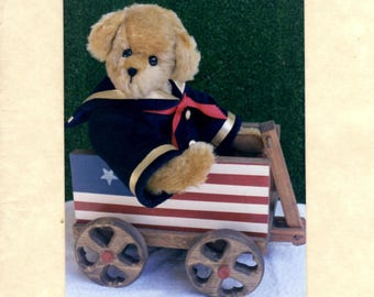 Stuffed Bear Pattern - Cornelius - Roosevelt Bear Co. - 15 Inch Bear - Bear Doll Making Pattern
