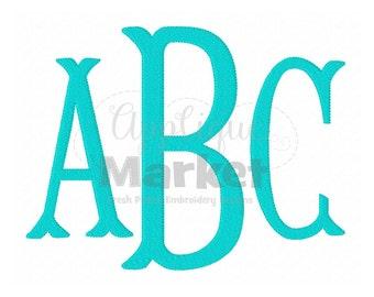 Machine Embroidery Design Applique Fishtail Monogram Filled Alphabet INSTANT DOWNLOAD