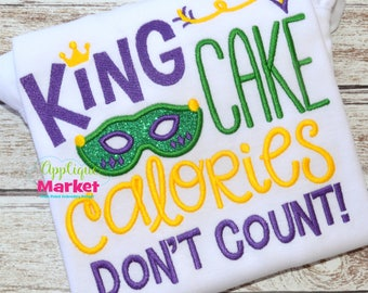 Machine Embroidery Design Embroidery King Cake Calories INSTANT DOWNLOAD
