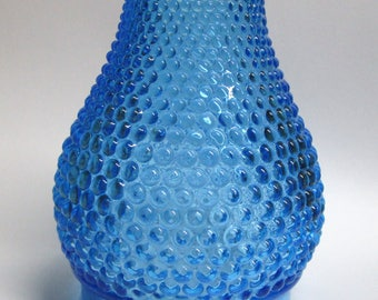 "Blue Hobnail Mini Oil Lamp Chimney  2.625"" outside diameter bottom, 4.125"" tall   Crystal  FREE SHIPPING"