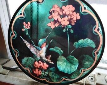SALE Hummingbird Flower Suncatcher