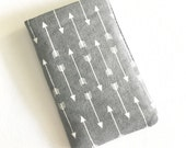 BIrth Control Case Pill Cozy - Tiny Arrows (grey)