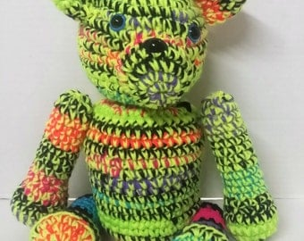Teddy Bear/Neon Teddy Bear/Plush Teddy Bear/Unique Teddy Bear/Stuffed Animal/Stuffed Teddy Bear/Amigurumi/Soft Toy/Plush Toy/Moveable Limbs