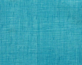 Turquoise Heath Print from Alexander Henry sold in 1/2 yard increments